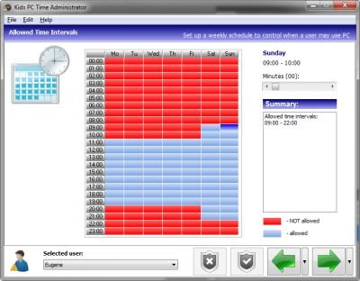 Kids PC Time Administrator 6.1.5.56 screenshot