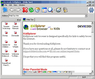 KidSplorer Web Browser 4.0.3 screenshot