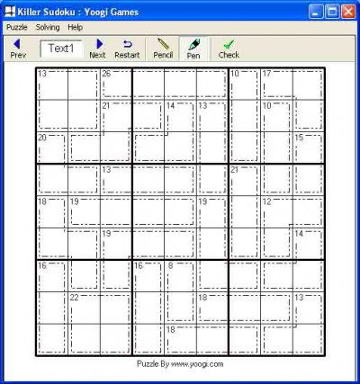 Killer Sudoku or Sum Sudoku 0.1 screenshot