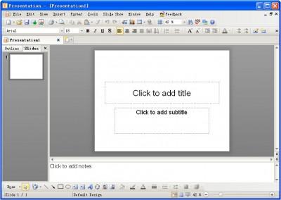 Kingsoft Presentation Free 2012 8.1.0.3030 screenshot