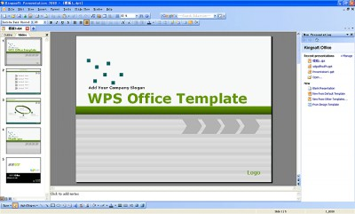 Kingsoft Presentation Professional 2012 8.1.0 screenshot