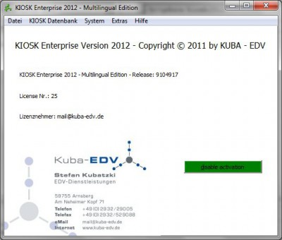 KIOSK Enterprise 2013 screenshot