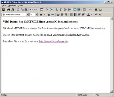 kkHTMLEditor 0.99i screenshot
