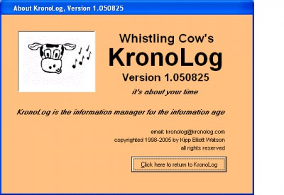 KronoLog 1.050825 screenshot