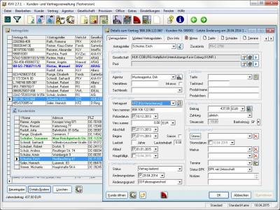 Kunden- und Vertragsverwaltung 2.7.2a screenshot