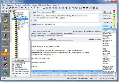 LAN-eMail Pro 2012.1.142 screenshot