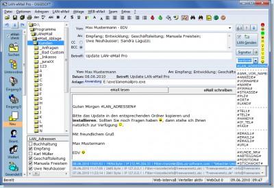 LAN-eMail 2009.4.121 screenshot
