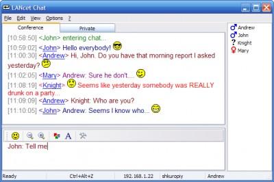LANcet Chat 2.3.301 screenshot