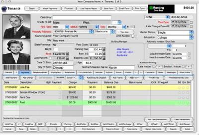Landlord Report-Property Management Software (Mac) 2017 screenshot