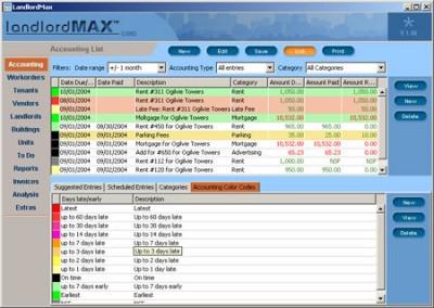 LandlordMax Property Management Software 1.08b screenshot