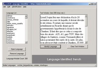 Language Identifier 1.5 screenshot