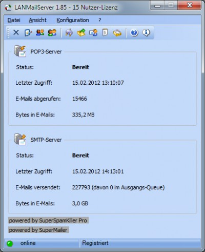 LANMailServer 2.85 screenshot