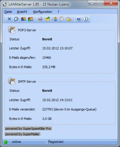 LANMailServer 5.30 screenshot