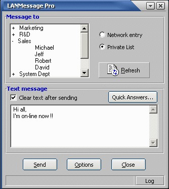 LANMessage Pro 4.00 screenshot