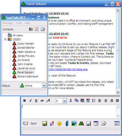 LanTalk NET 3.6.5619 screenshot