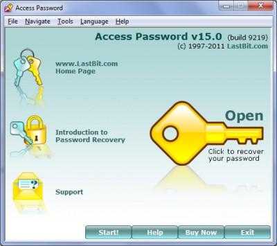LastBit Access Password Recovery 15.0.9219 screenshot