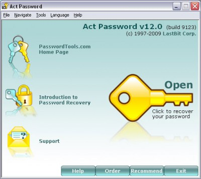LastBit Act! Password Recovery 12.0.9123 screenshot