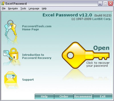 LastBit Excel Password Recovery 18.0 screenshot