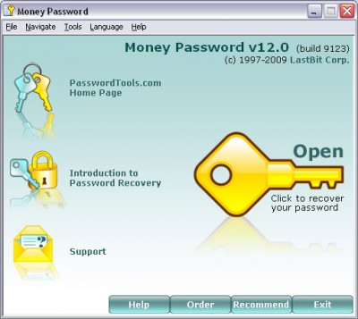 LastBit Money Password Recovery 12.0.9123 screenshot