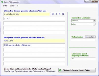 Latein-Wörterbuch 3.1.1 screenshot