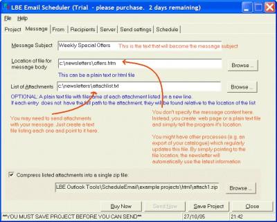 LBE Email Scheduler 3.1.13 screenshot