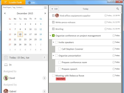 LeaderTask Daily Planner 11.0 screenshot