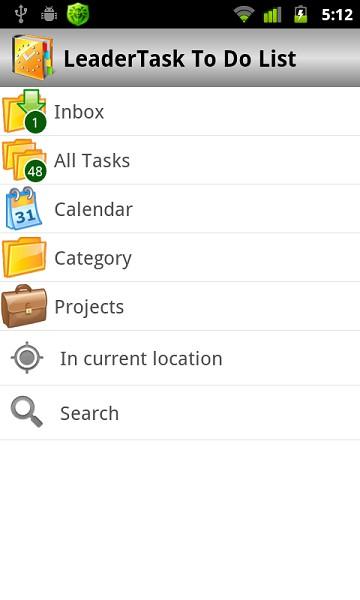 LeaderTask To Do List 1.6 screenshot