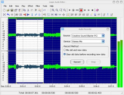 Leapic Audio Editor 4.0 screenshot