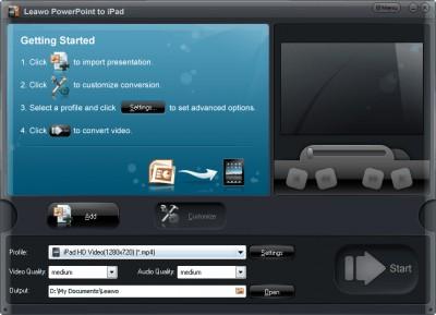 Leawo PowerPoint to iPad 2.7.4.0 screenshot