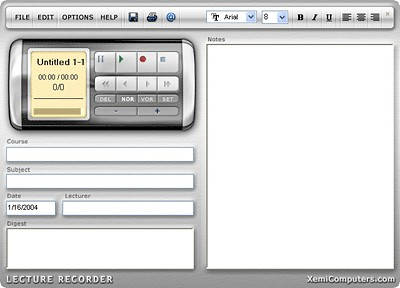 Lecture Recorder 4.5 screenshot