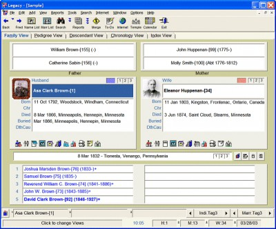 Legacy Family Tree 9.0.0.198 screenshot