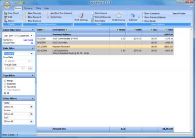 Legal Billing 10.1.0.2 screenshot