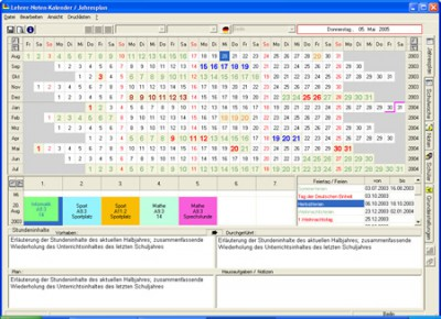 Lehrer-Noten-Kalender 1.23 screenshot
