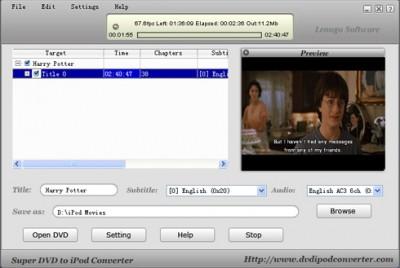 Lenogo iPod to PC Transfer build 01 4.9 screenshot