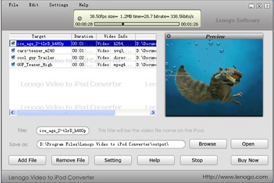 Lenogo iPod to PC Transfer Build 2006 4.0 screenshot