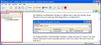 LibMaster.com Active Bookmark 1.1 beta screenshot