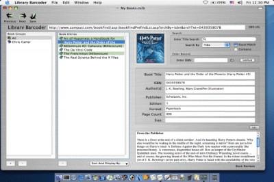 Library ISBN Barcoder 3.0 screenshot