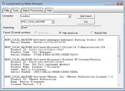 LicenseCrawler 2.03.2485 screenshot