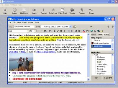 LifeJournal 3.00.00 screenshot