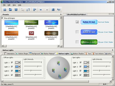 Likno Web Button Maker 2.0.162 screenshot