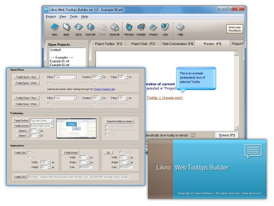 Likno Web/HTML Tooltips Builder 2.1.232 screenshot