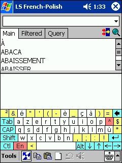 LingvoSoft Dictionary French <-> Polish for Pocket 2.7.27 screenshot