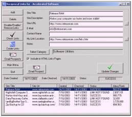 Link Exchange Manager 1.26 screenshot