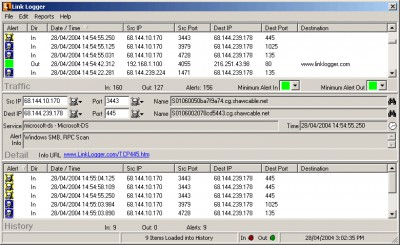 Link Logger - Linksys nonProtocol 2.4.4.33 screenshot