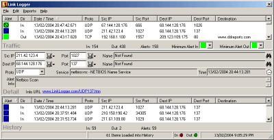 Link Logger - Zywall 3.52 2.1.0.47 screenshot