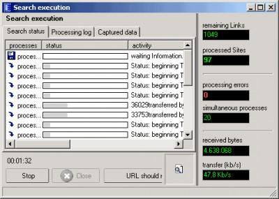 Link Web Extractor 2.5 screenshot