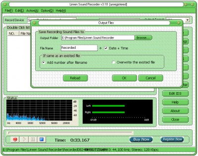 Linren Sound Recorder 3.50 screenshot