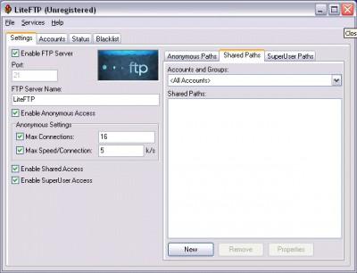 LiteFTP 2.6 screenshot