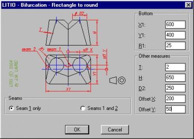 LITIO - 3D Sheet metal unfolding software 1.0 screenshot