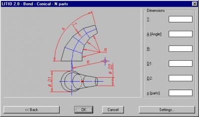 LITIO2 - 3D Sheet metal unfolding soft 2.0.5 screenshot